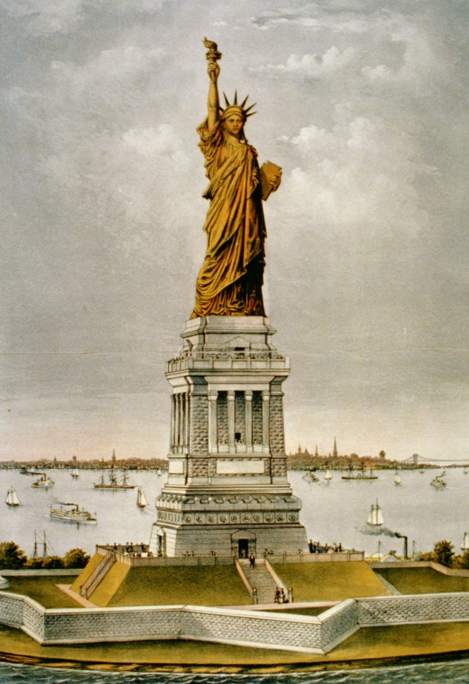 vintage of Statue of Liiberty